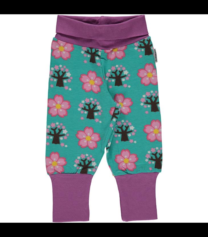 Pants rib cherry blossom