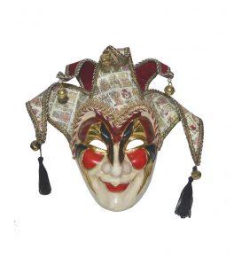 Gipsmask med toffsar, röd