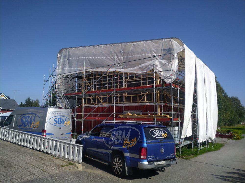 Utbyggnad, ny övervåning