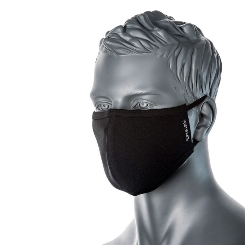 Munskydd i tyg – antimikrobisk ansiktsmask justerbara gummiband