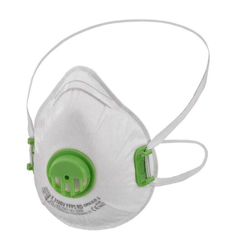 Andningsskydd FFP3 med ventil halvmask