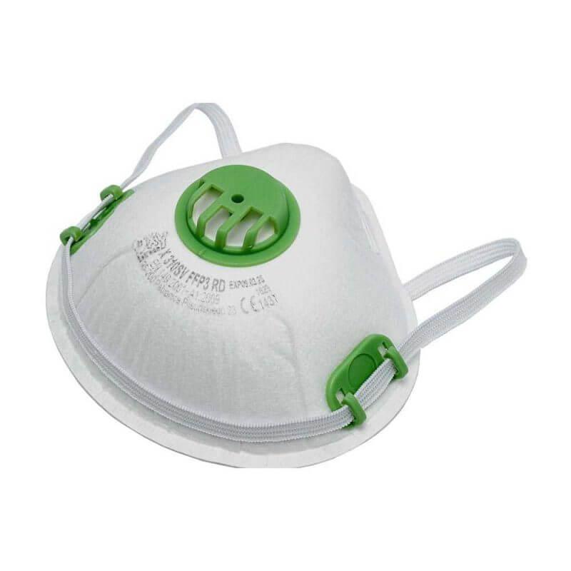 Andningsskydd FFP3 med ventil skyddar mot partiklar