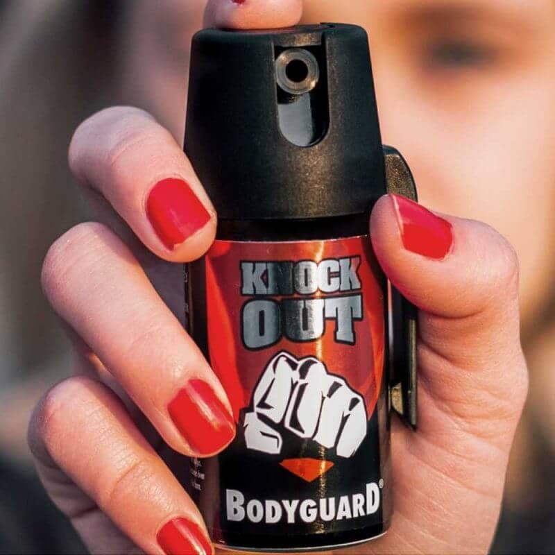 Försvarsspray Bodyguard Knock Out v2 närbild