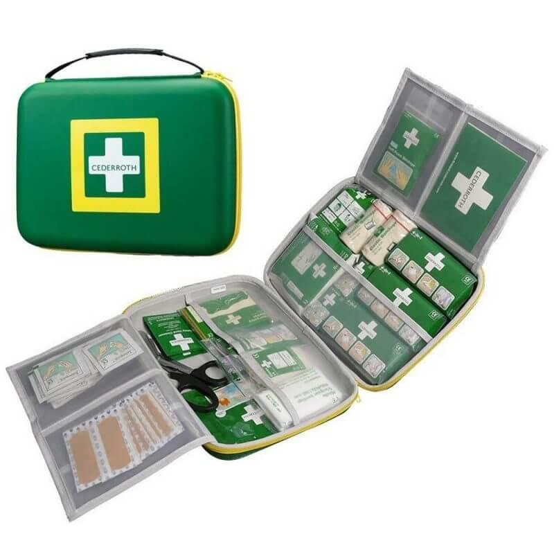 Cederoth Första Hjälpen-låda Stor med transparenta fickor