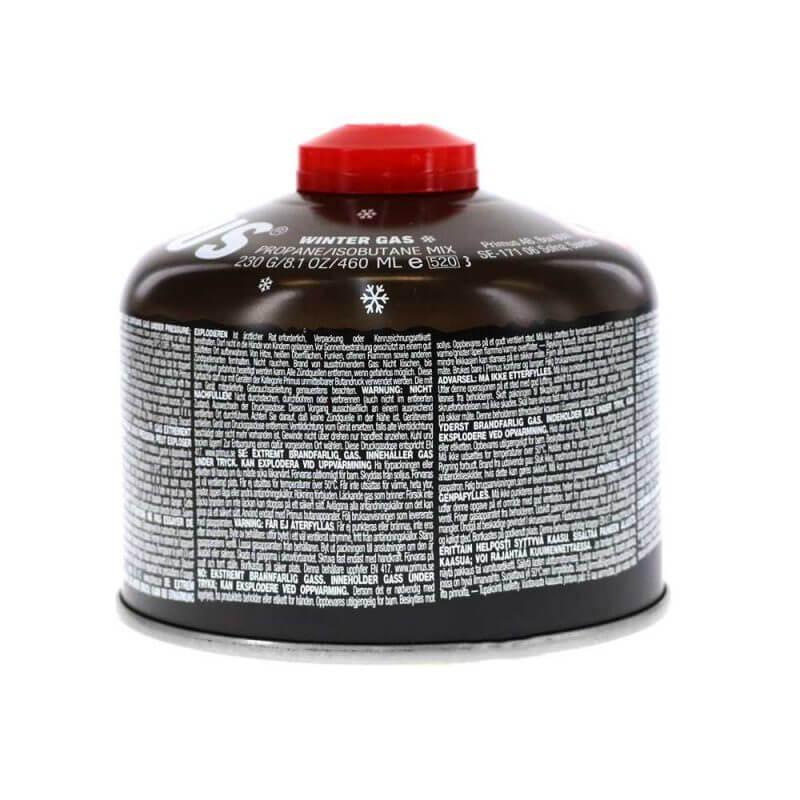 Gasbehållare – Primus Winter Gas 230 g baksida