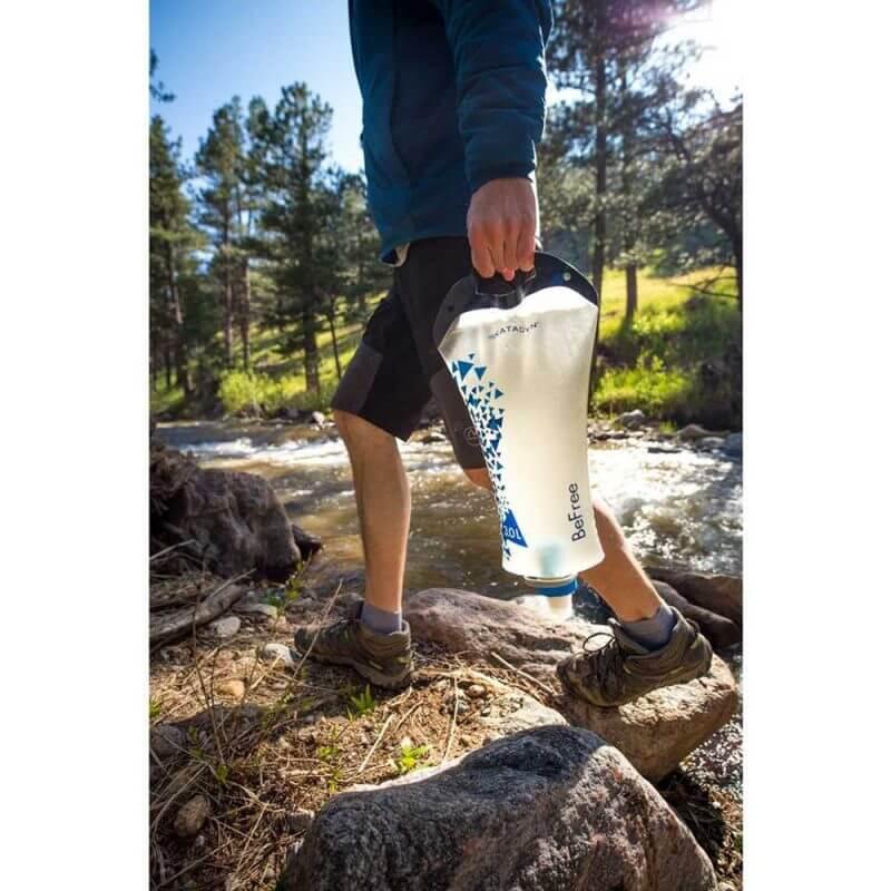 Katadyn BeFree vattenflaska med filter 3 liter med handtag att bära med