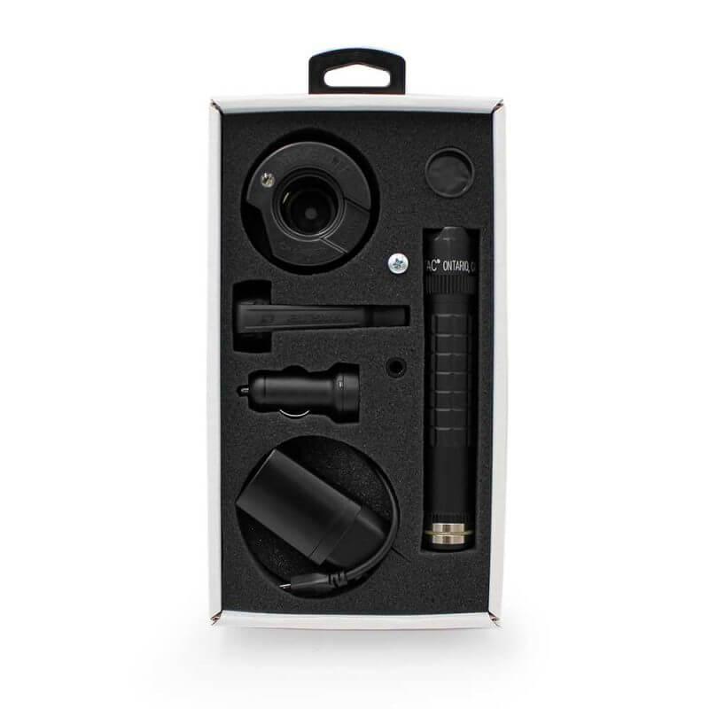 MAG-TAC stark uppladdningsbar ficklampa, i sin låda