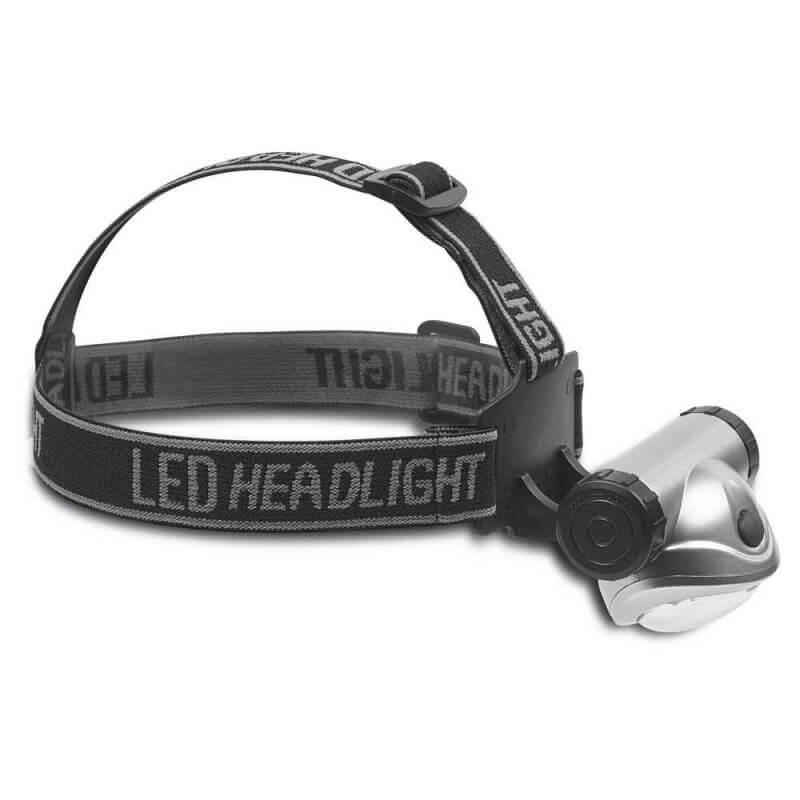 Pannlampa LED med batterier med ställbar lykta