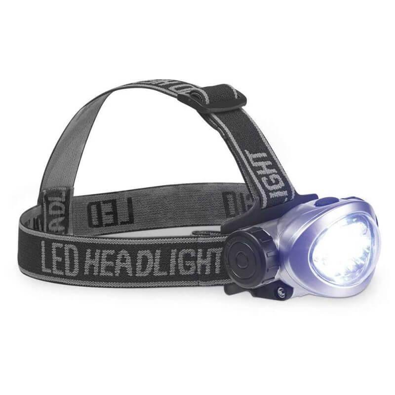 Pannlampa LED med batterier vitt ljus