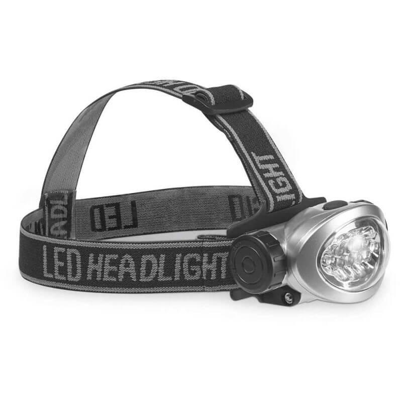 Pannlampa LED med batterier, sida
