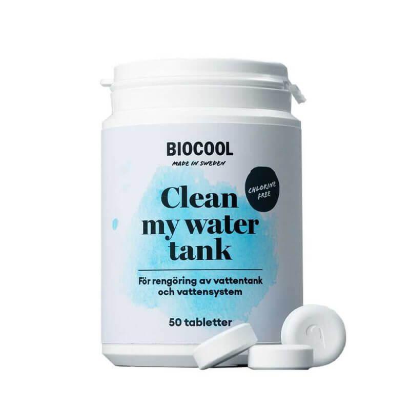 Vattenreningstabletter - Biocool clean my water tank 50 tabletter