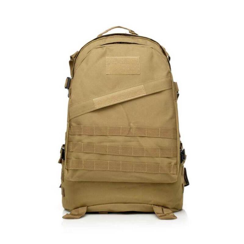 Ryggsäck 40 liter – Bug Out Bag / dagsryggsäck, framsida, khaki