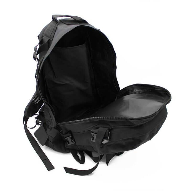 Ryggsäck 40 liter – Bug Out Bag / dagsryggsäck, öppen