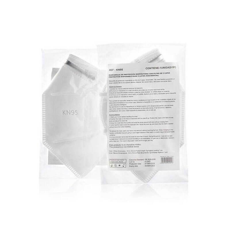Andningsskydd KN95 självfiltrerande mask med 5 lager, ergonomisk passform