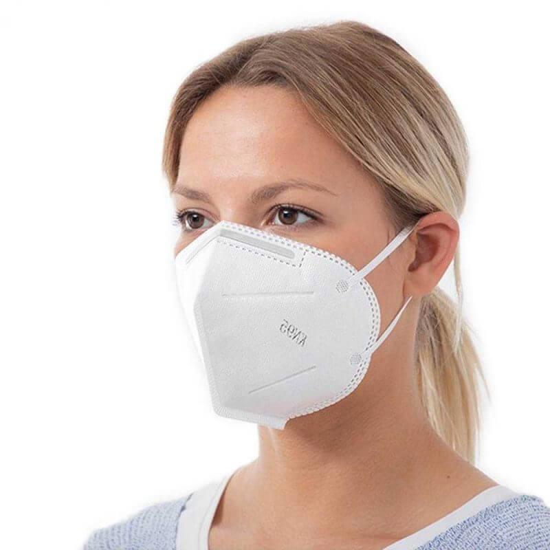 Andningsskydd KN95 självfiltrerande mask med 5 lager