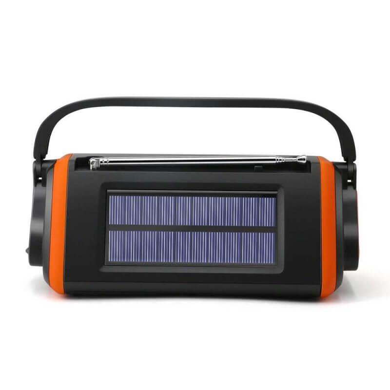 Vevradio med solceller – 4000 mAh powerbank, nödradio