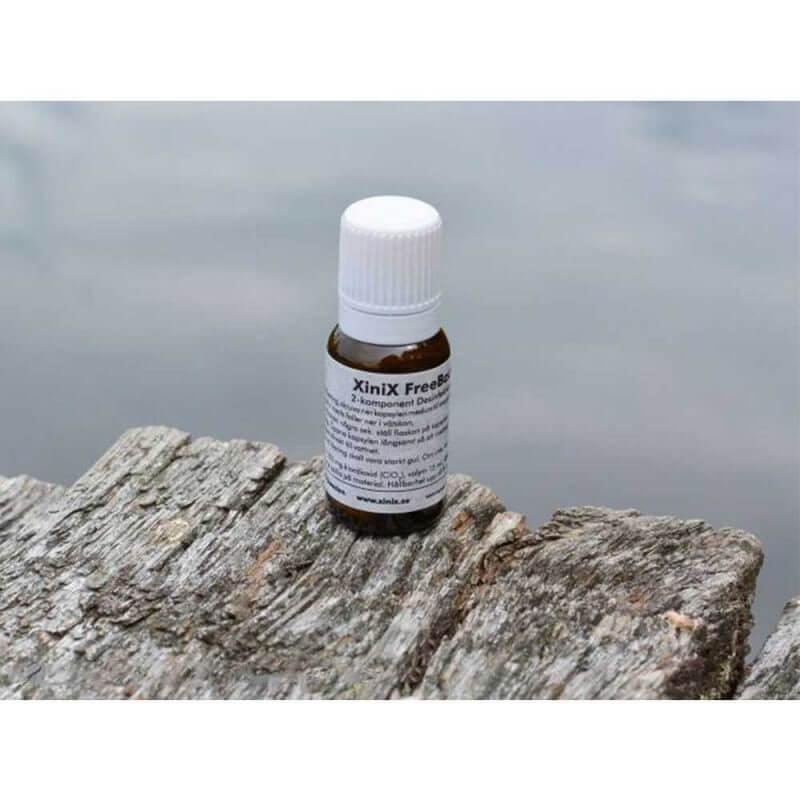 XiniX FreeBact Small 2-pack vattenrening för camping, båt och vattentank. Miljövänlig desinfektion.