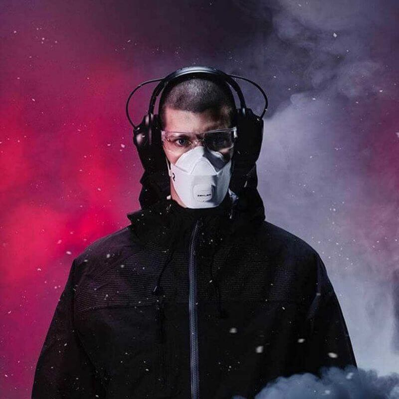 Zekler filtrerande halvmask ffp2 andningsskydd