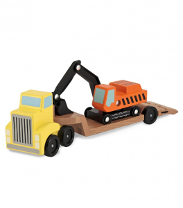 Melissa & Doug - Transportset/Low Loader (with digger)