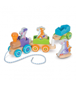 Melissa & Doug - Dragleksak/Rocking pull train