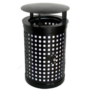 Papperskorg Cylinder med tak