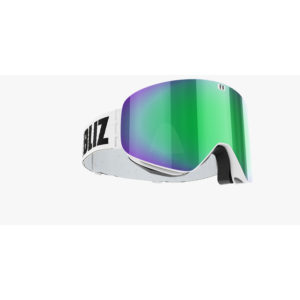 WHITE WITH GREEN MULTI LENS