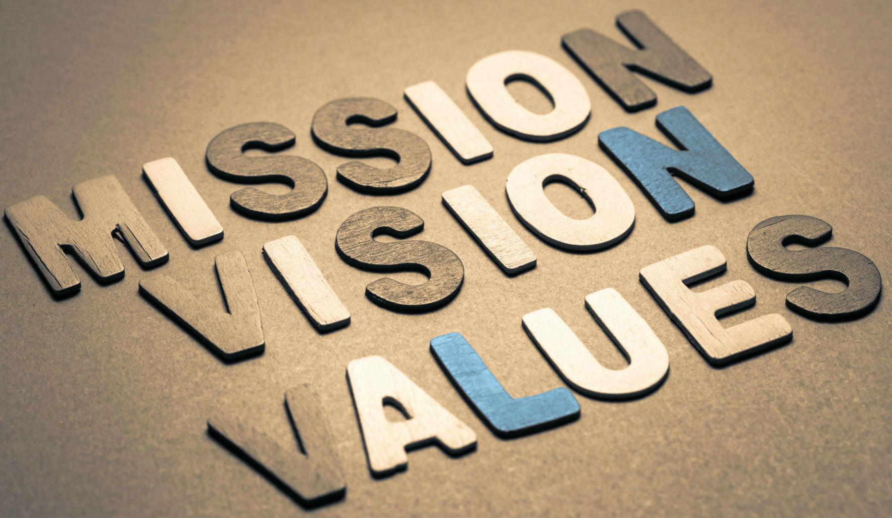 Mission vision värderingar