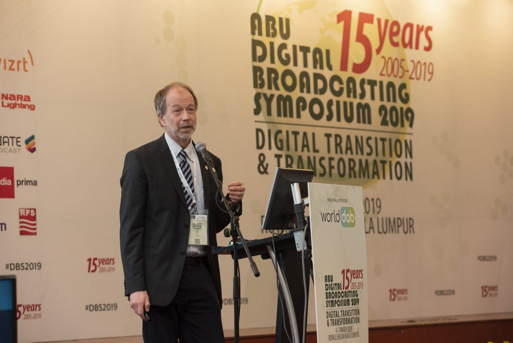Mats spoke about eMBMS, FeMBMS and 5G in ABU DBS 2019