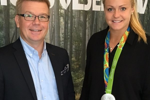From the left: CEO Magnus Edin, Hilda Carlén