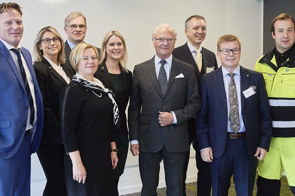 Fotografier från Hans Majestät Konungens besök på Sunpine, Piteå, oktober 2019.